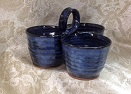 blue jean pottery. denim colored stoneware by Ocepek Pottery. click for product list and prices