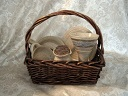 photo of communion pottery travel set made by Debra Ocepek of Ocepek Pottery