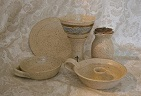 photo of communion pottery made by Debra Ocepek of Ocepek Pottery